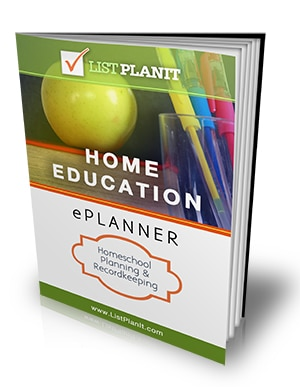 Home Education ePlanner | ListPlanIt.com