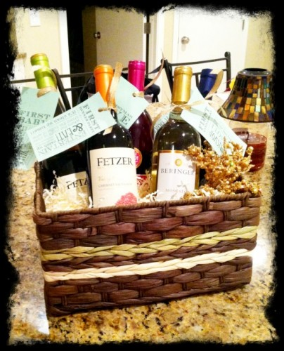 Wedding Gift Basket Wine : Unique Wedding or Wedding Shower Gift Ideas ListPlanIt.com ...