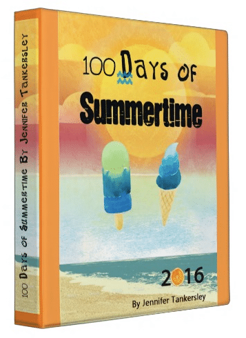 100 Days of Summertime 2016 Binder | ListPlanIt.com