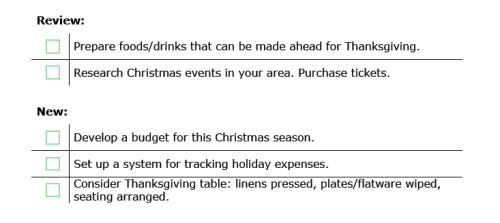 Daily Checklist | 30 Days to Christmas